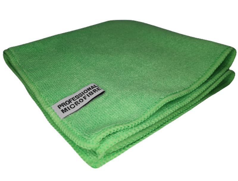 E-CS Mikrovláknová utěrka- zelená 40x 40 cm 380 g/m2 (Extra jemná, extra savá- švédská utěrka z mikrovlákná která vydrží až 1000x vyprání)